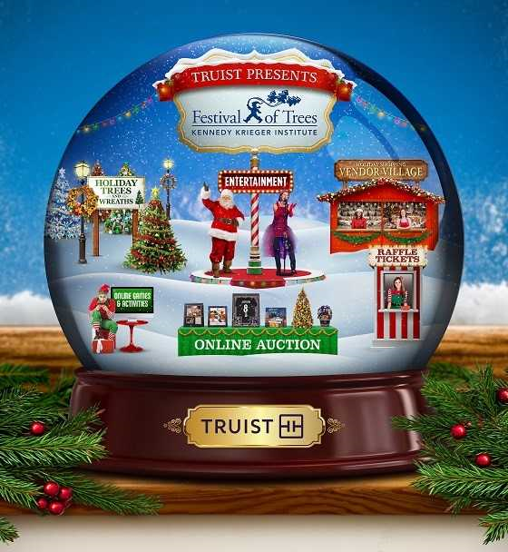 The Festival of Trees snow globe