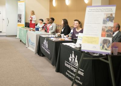 Display tables at Neurodiversity Conference