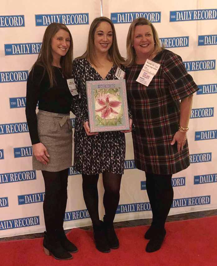Mallory Finn, Alyssa Thorn and Maureen van Stone at The Daily Record's Leading Women Award ceremony