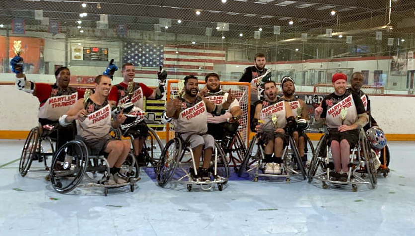 Kennedy Krieger's wheelchair lacrosse team
