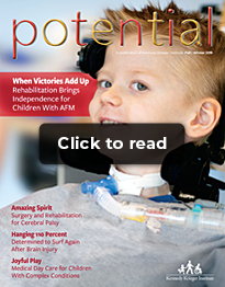 "A photo of the cover of the Fall Winter 2019 issue of Potential Magazine, with the words ""Click to read"" atop it"