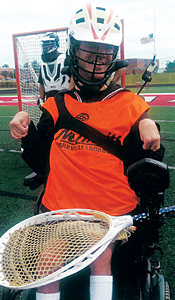 Kevin on the lacrosse field