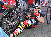 Josh on his handcycle