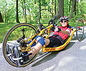 Josh on a handcycle