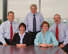 Jim Anders, Sharon Earley Reeves, Dr. Goldstein, Lainy LeBow-Sachs and Dr. Michael V. Johnston.