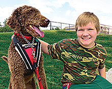 Christian and his service dog Trevor