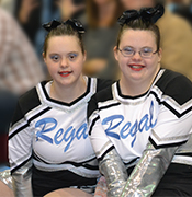 Cheyenne and Dakota cheerleading