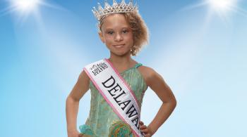 Kailyn photographed after winning the Little Miss Delaware 2018 pageant