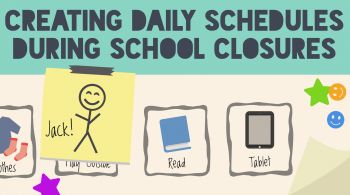 An illustration of a daily schedule for a child named Jack