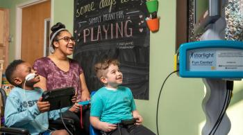 Patients enjoy using the Starlight Fun Center