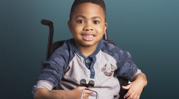 A photo of Zion, the first child to undergo bilateral hand-transplant surgery