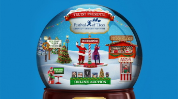 FOT Snow Globe Blue Background