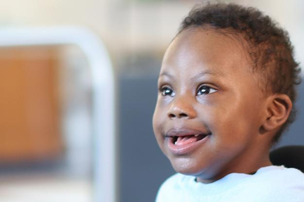 A photo of Marcel, a Kennedy Krieger patient with Down syndrome