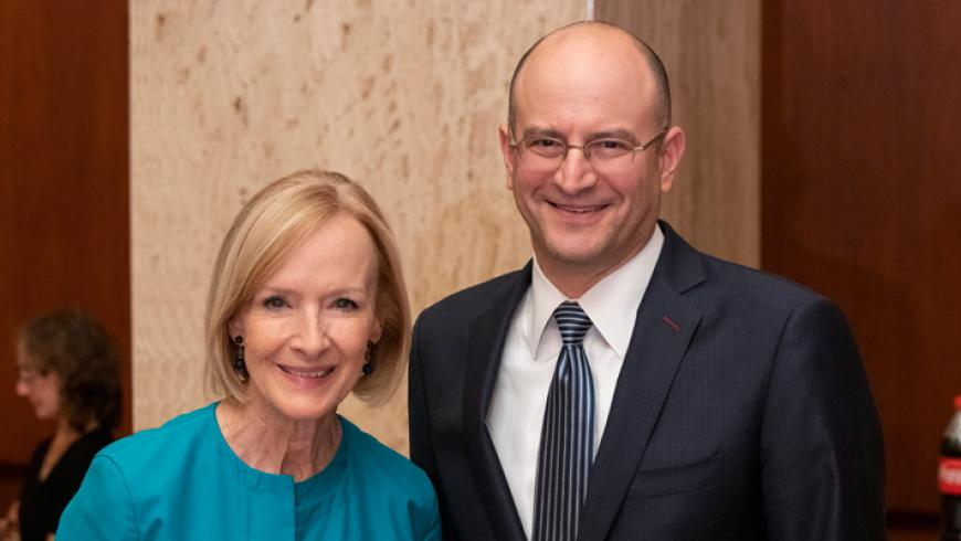 Judy Woodruff, anchor and managing editor of PBS NewsHour and Kennedy Krieger board member, and Bradley L. Schlaggar, MD, PhD, president and CEO of Kennedy Krieger